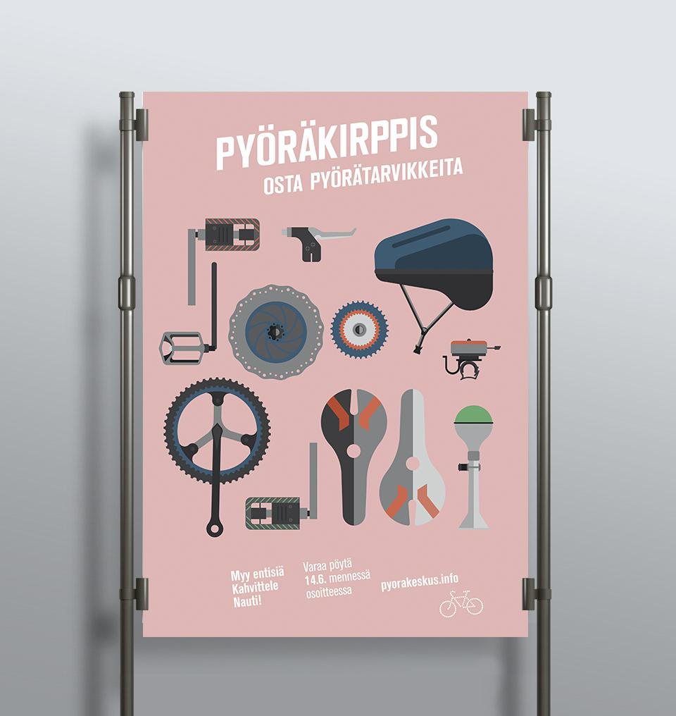 Tapahtumajuliste Malmin pyöräkeskukselle / Natàlia Salat Bas